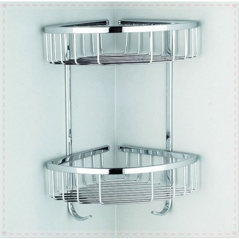 High Quality 2 Layers Bathroom Corner Wall Shelf in Pakistan