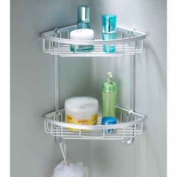 High Quality 2 Layers Bathroom Corner Wall Shelf i