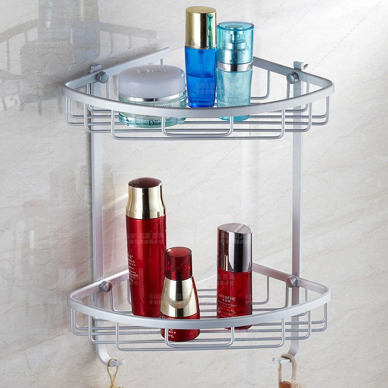 High quality 2 layers bathroom corner wall shelf in for Bathroom accessories hs code