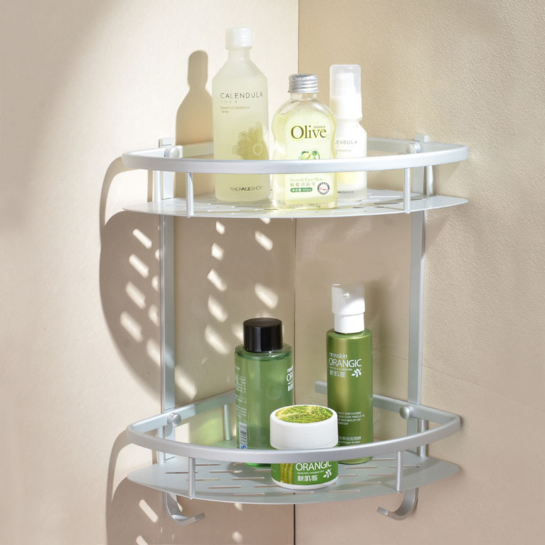 double layer basket bathroom corner shelf in pakistan in