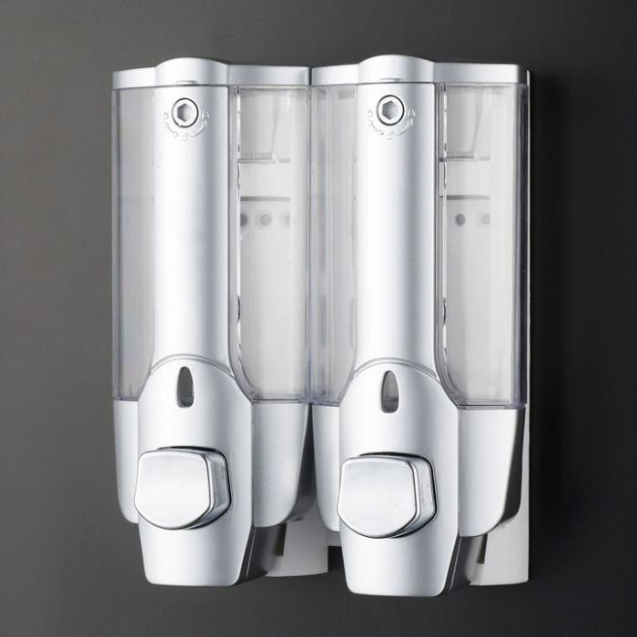 2 pump action wall mounted soap shampoo dispenser in for Bathroom accessories hs code