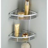 Double Layer Basket Bathroom Corner Shelf in Pakis