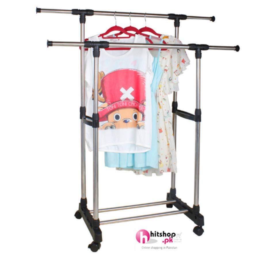 Multifunctional Double Pole Stainless Steel Drying Clothes