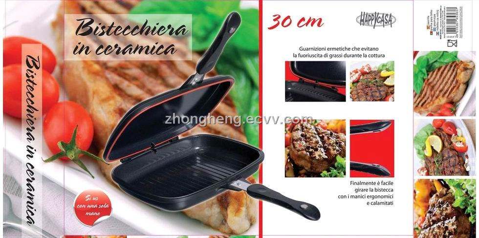 BR B Q  Double Grill Pan