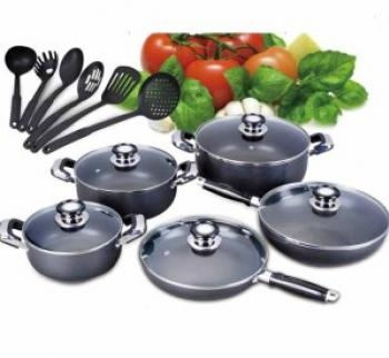 Cook ware Set 16 Piece Teflon Cotted