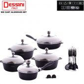 Dessini Non-Stick Die Cast Cookware Set 18pcs