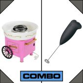 Combo of 1 Cotton Candy Maker with 1 Coffee Milk F