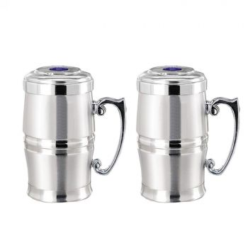 Coffee Cup Double Wall Barrel Shaped Stainless Ste
