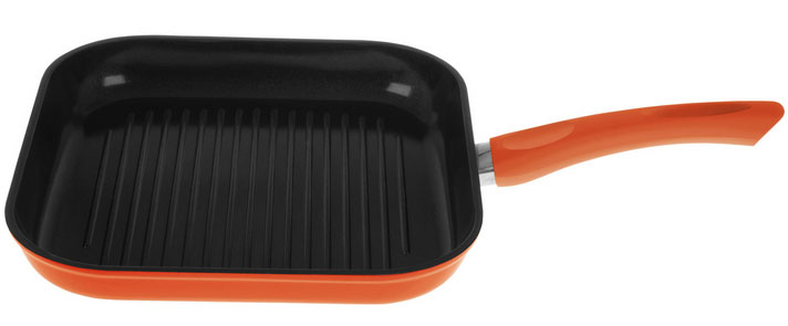 Ceramic Grill Pan Red