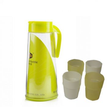 Water Set High Quality Plastic Jug  4 Glasses Medi
