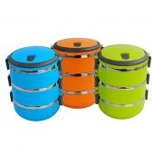 Portable 3-Tier Insulation Bento Lunch Box