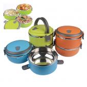 Double Layer Stainless Steel Plastic Lunch Box
