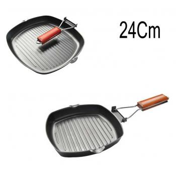 Nonstick 24cm frying pan grill pan griddle pan