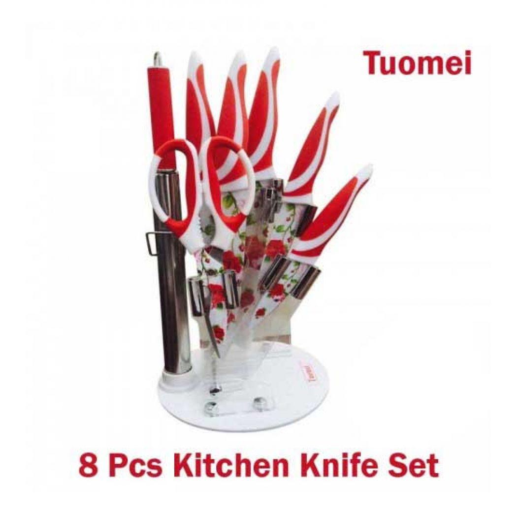 Tuomei 8 Piece Kitchen Knife Set