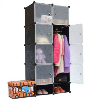 10 Cubes Wardrobe - Black