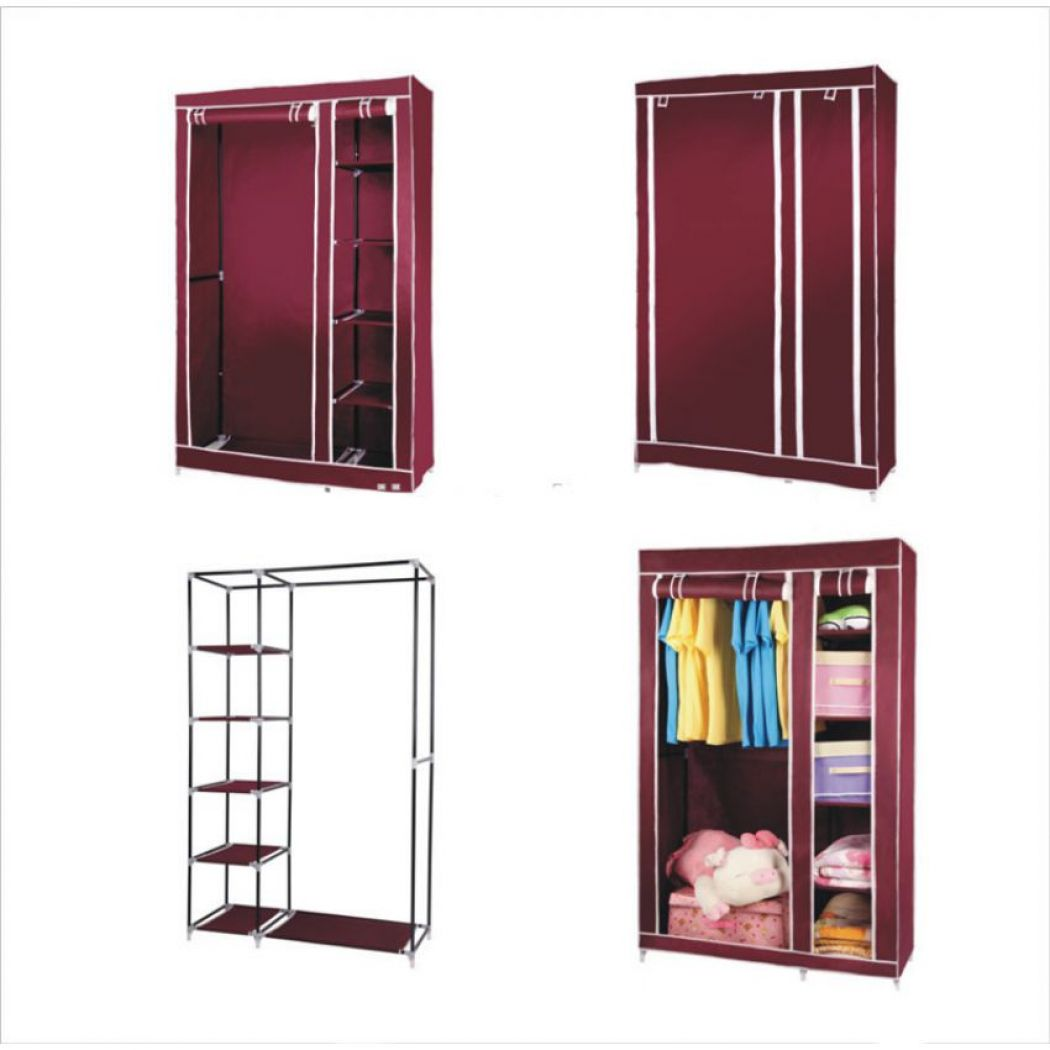 Cloth Storage Canvas Wardrobe Closet