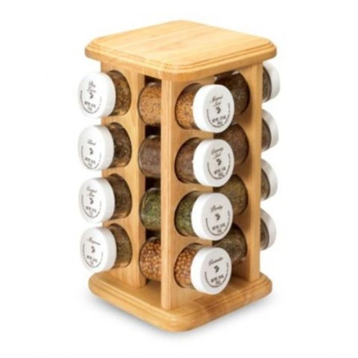 Wooden Masala Jars With Stand