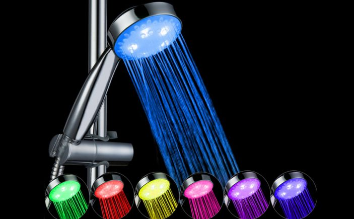 7 Colors Color LED Lights Shower