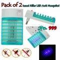 Pack Of 2 Insect Killer LED Anti Mosquito  Get Rid