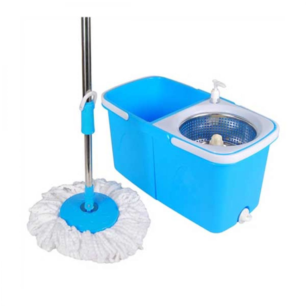 Split Bucket 360 Rotating Magic Spin Mop with 2 Mo