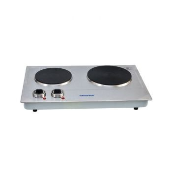 Geepas GHP-7570 Double Hot Plate 2500W - Silver