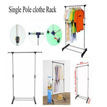One Pole Telescopic Clothes Rack