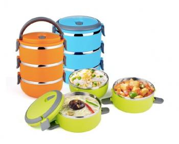 3 Layer Stainless Steel Lunch Box in Pakistan