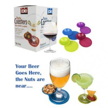 4 PCS Party Coasters with Multi-usage Appetizers P