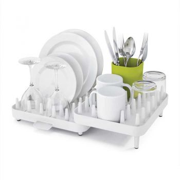 Adjustable Dish Drain Rack And Storage Holder