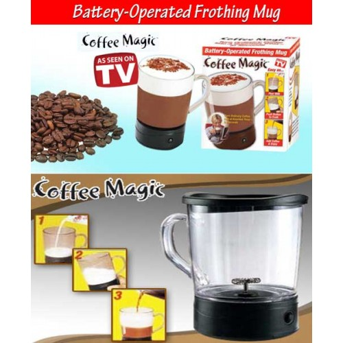 Coffee Magic Frothing Mug in Pakistan