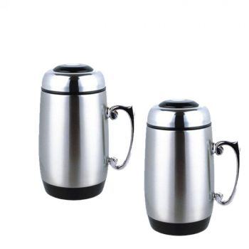 Large Size Coffee Cup Double Wall Stainless Steel