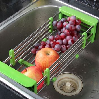 Telescopic Stainless Steel Sink Drain Basket