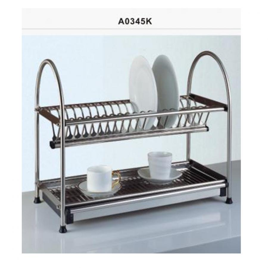 Stainless Steel Kitchen Dish Rack With Drip Tray In
