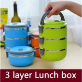 3 Layer Stainless Steel Lunch Box in Pak