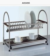 STAINLESS STEEL KITCHEN DISH RACK WITH D