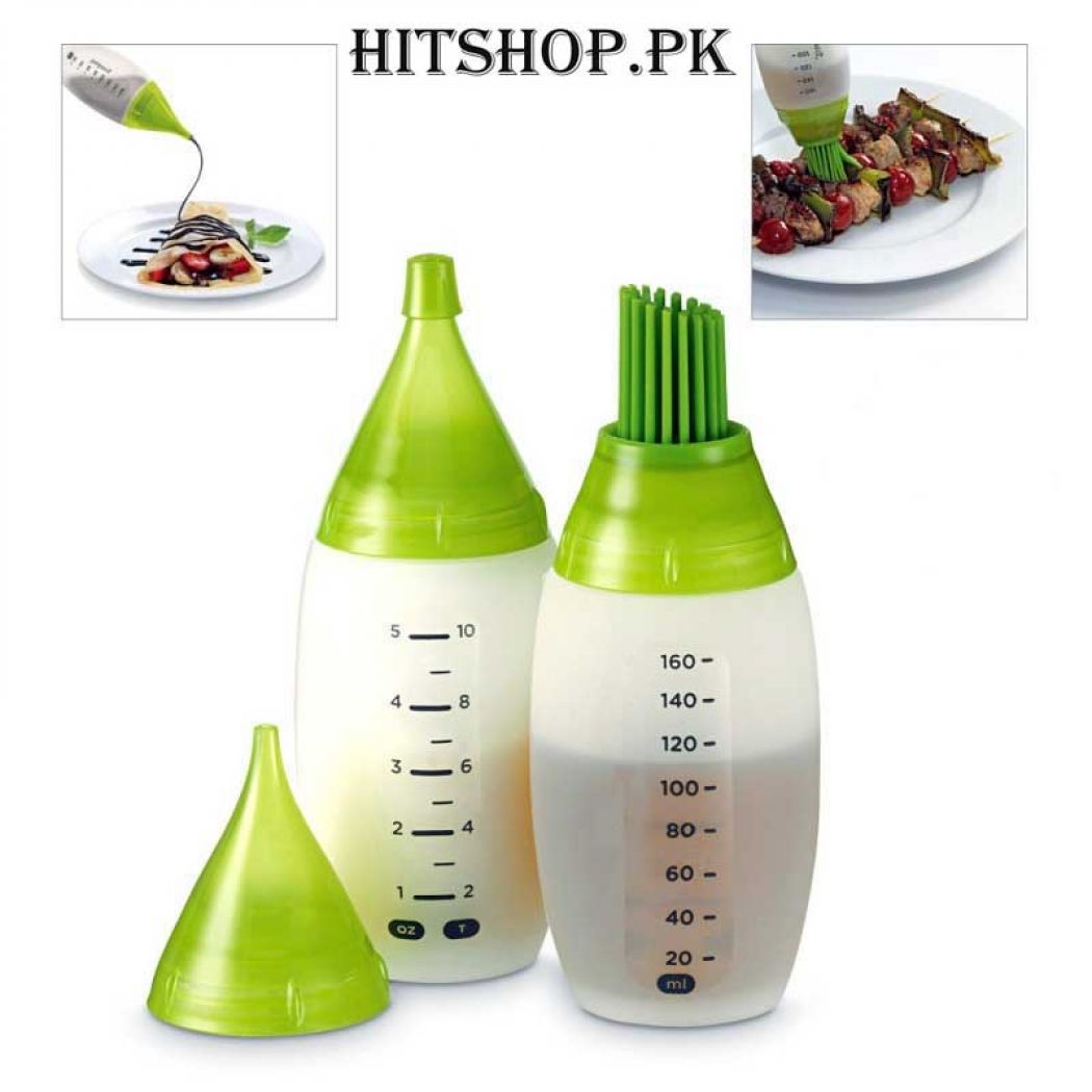 2 Pcs Chef Bottle Kit Salad Barbecue Sauce Bottle