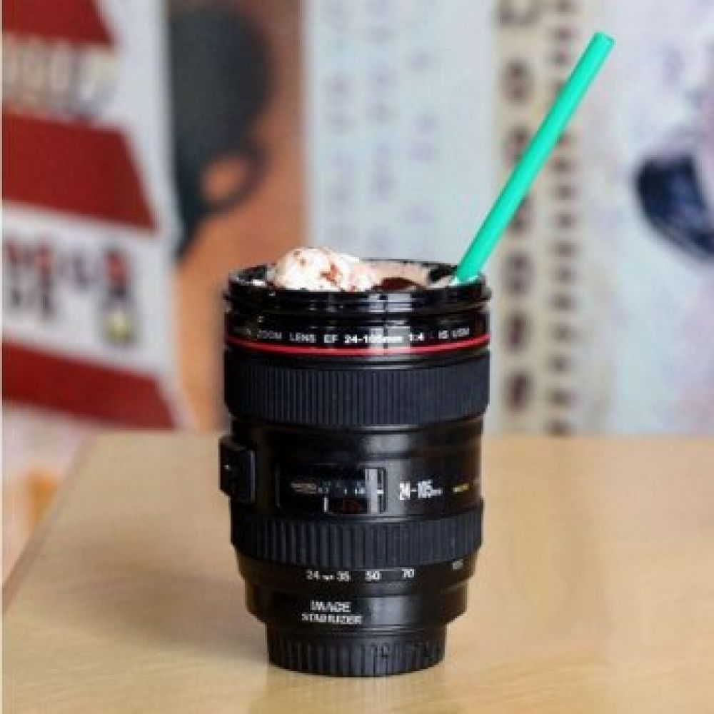 Camera Lens Shaped Coffee Mug