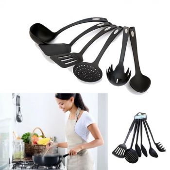Pack Of 6 Non-Stick Plastic Kitchen Cooking Utensi