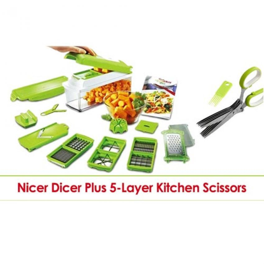 Genius Nicer Dicer And 5 Layer Kitchen Scissors In