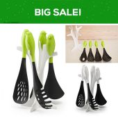 4 Pcs Kitchen Sparrow Service Set - Black