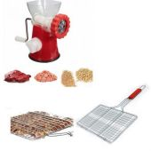 Deal Of Meat Mincer Red With BBQ Mesh Grilling Ski