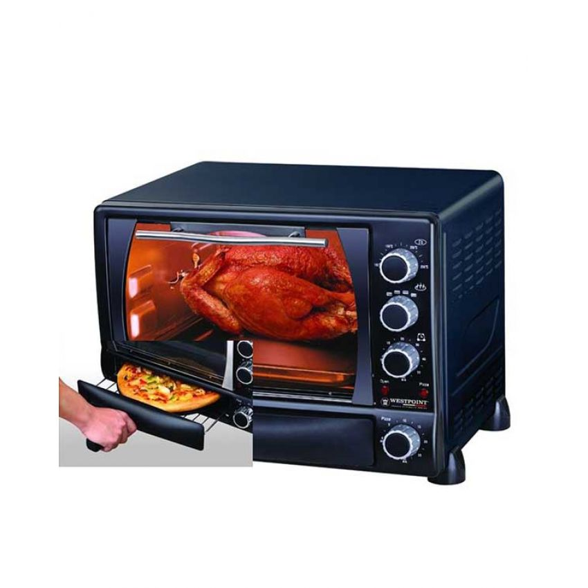 westpoint 3400 oven toaster rotisserie kabab grill b b q pizza maker 34 liter in pakistan hitshop. Black Bedroom Furniture Sets. Home Design Ideas