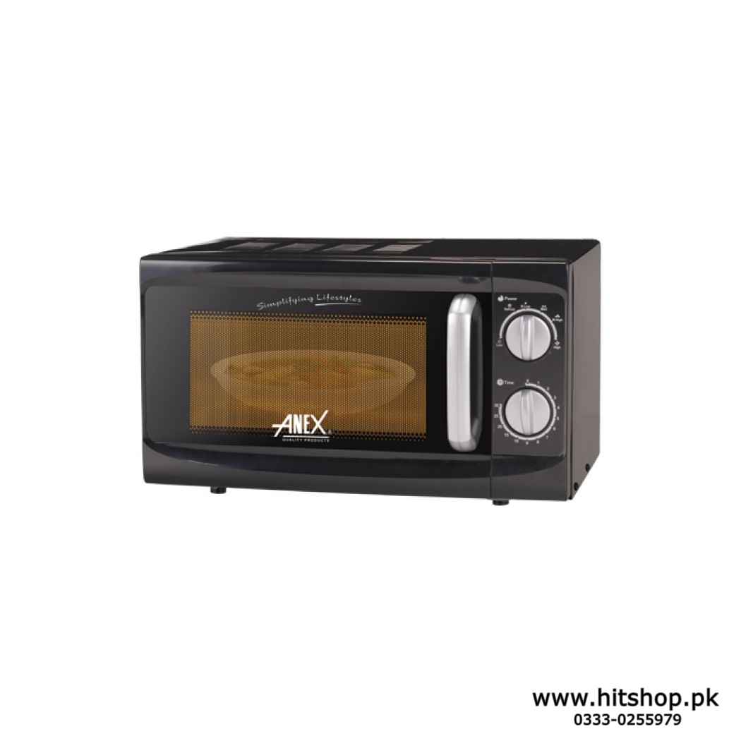 Anex Ag 9021 Deluxe Microwave Oven-Black 700watts