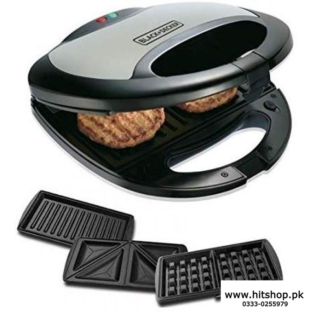 Black And Decker Sandwish Maker 3 in 1 750watts TS2090