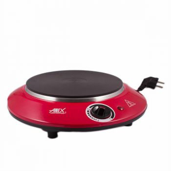 Anex AG 2065 Deluxe Hot Plate Red and Silver