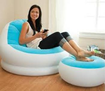 INFLATABLE AIR SOFA CHAIR WITH AIR FOOTSTOOL