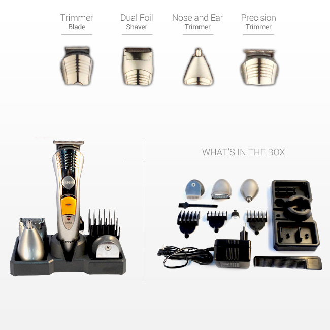 Gemei 7 in 1 Rechargeable Grooming Kit GM580