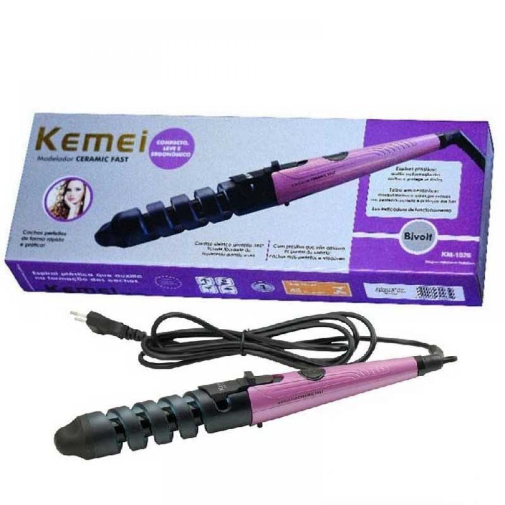 Kemei KM 1026 Perm Spiral Hair Curling Iron