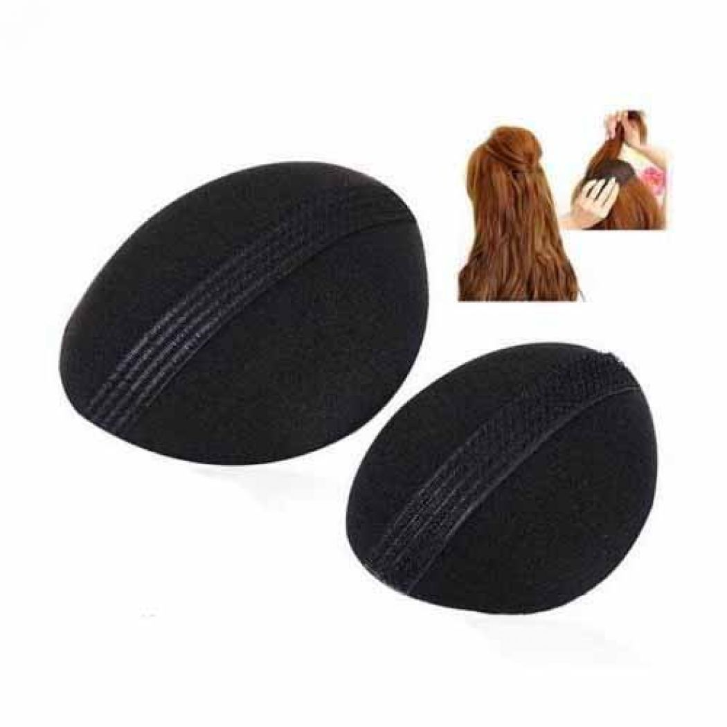 2 Pcs Set Sponge Hair Insert Velcro Volume Base Bu