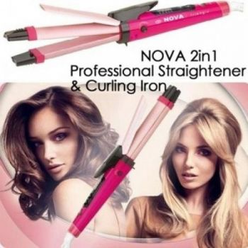 Combo of Nova Professional 2 In 1 Hair Curler - St